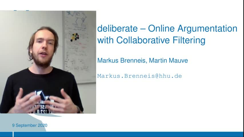 deliberate – Online Argumentation with Collaborative Filtering