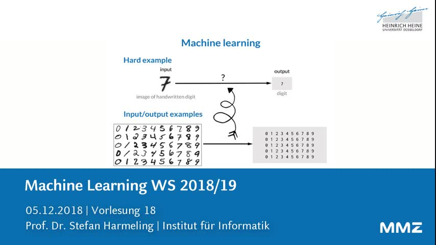 Machine Learning VL18
