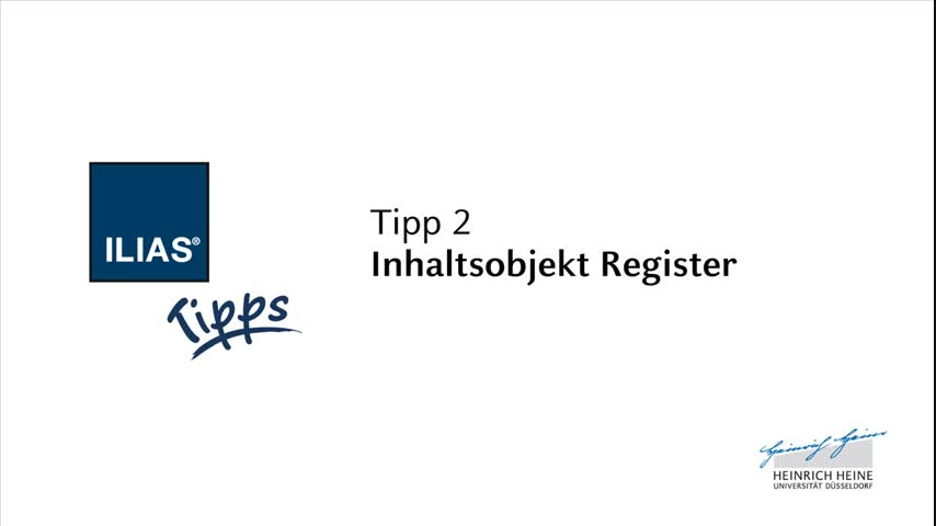 02: Inhaltsobjekt Register