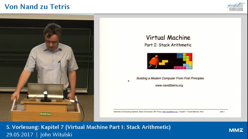 Von Nand zu Tetris 5: K7 (Virtual Machine Part I )