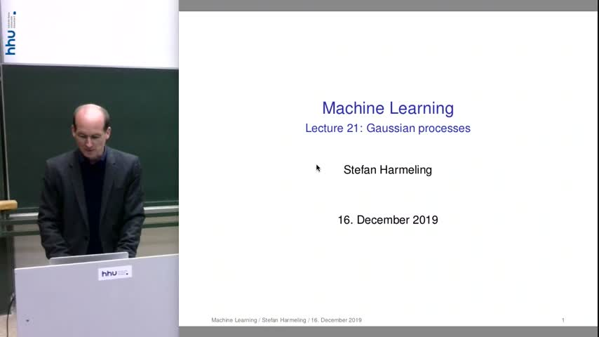 Machine Learning 21 Gaussian Processes (1) 2019/20