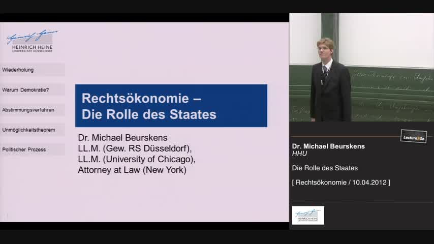 2. Die Rolle des Staates