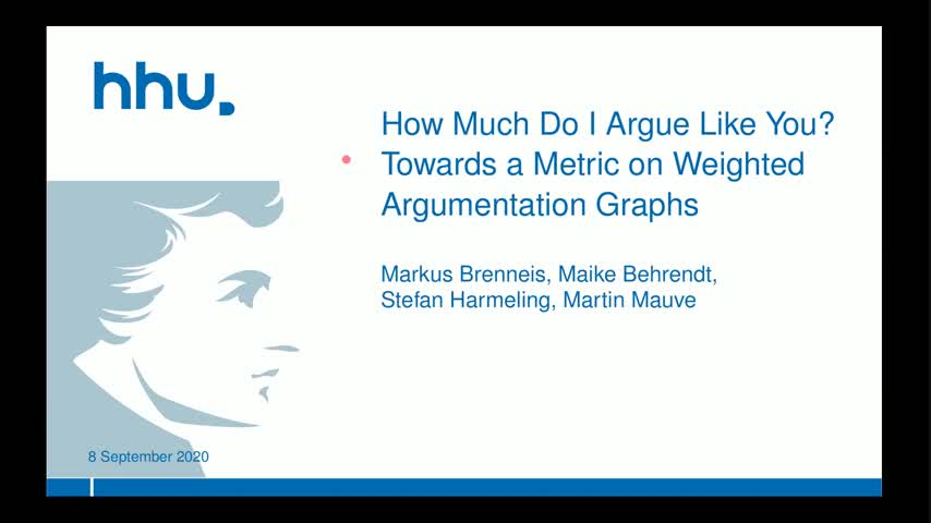 How Much Do I Argue Like You? Towards a Metric on Weighted Argumentation Graphs