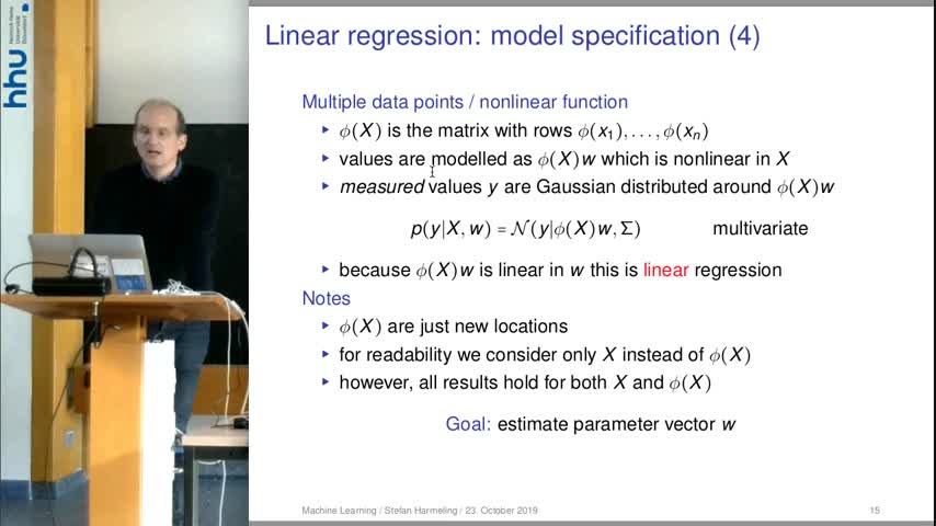 Machine Learning 06 Linear Regression 2019/20