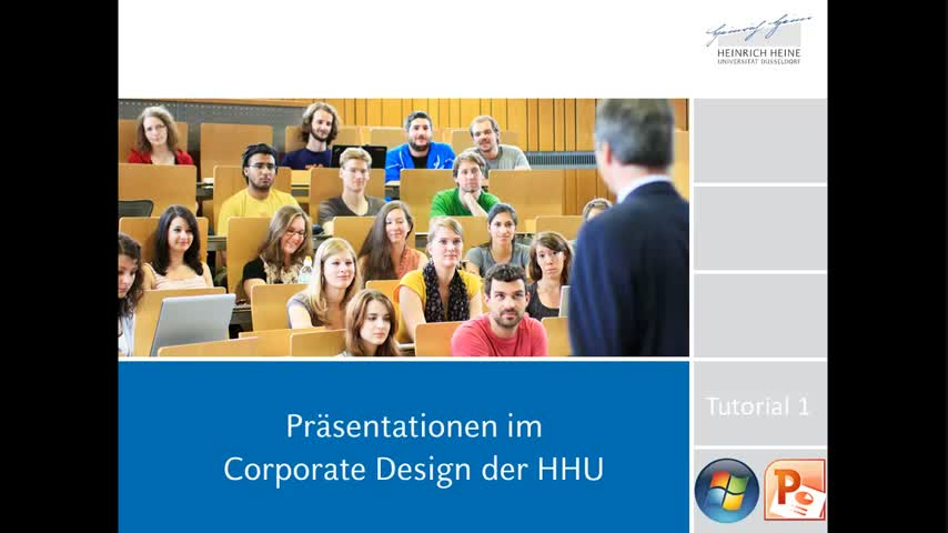 Tutorial 1: Präsentationsvorlagen der HHU (Windows PPT)