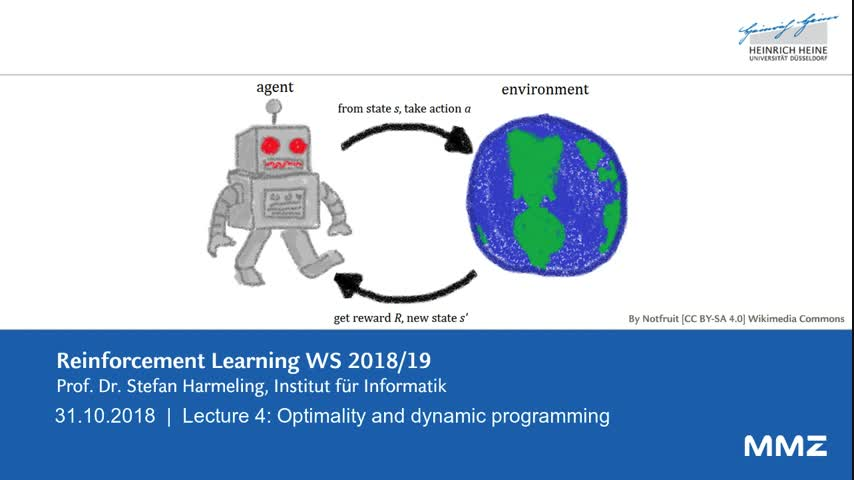 Reinforcement learning VL04 2018-10-31