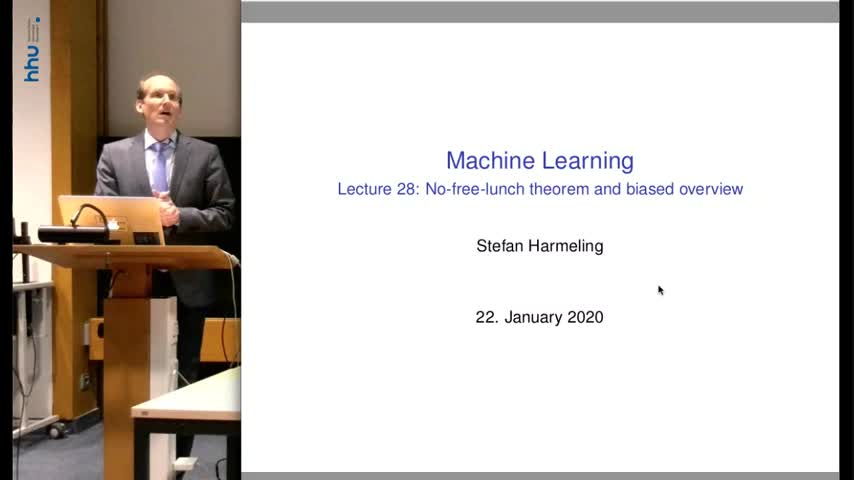 Machine Learning 28 No free lunch, TicTacToe to AlphaGo Zero 2019/2020