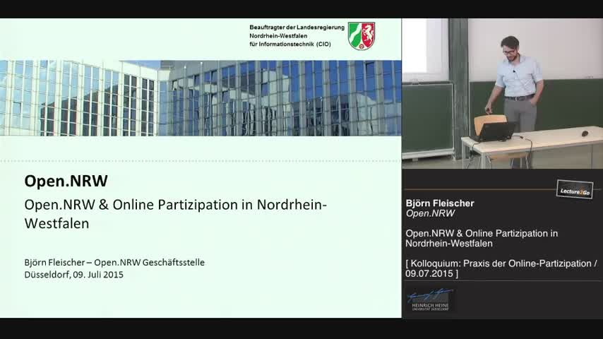 Open.NRW & Online Partizipation in Nordrhein-Westfalen
