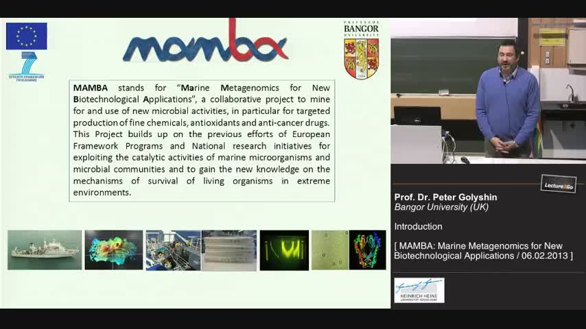 MAMBA Workshop Introduction