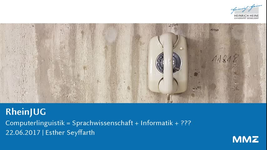 Computerlinguistik = Sprachwissenschaft + Informatik + ???