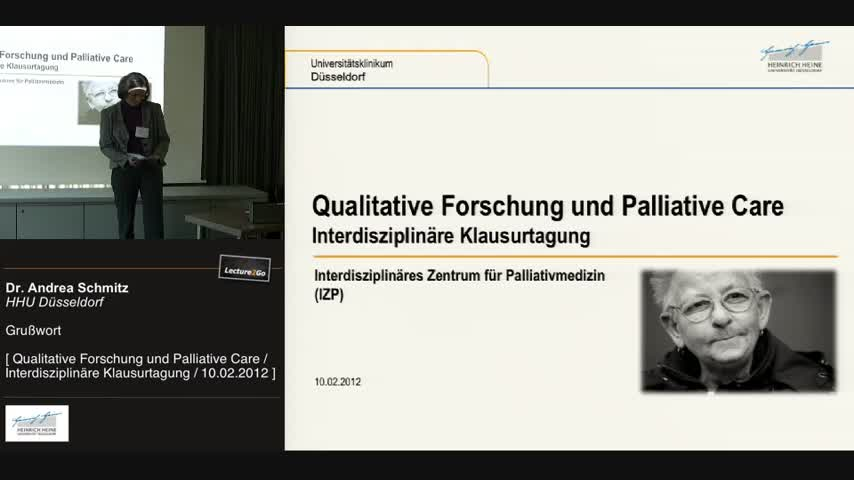 Interdisziplinäre Klausurtagung: Qualitative Forschung und Palliative Care
