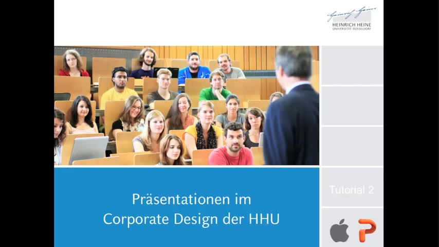 Tutorial 2: Präsentationsvorlagen der HHU (Mac, PowerPoint)