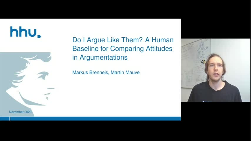 Do I Argue Like Them? A Human Baseline for Comparing Attitudes in Argumentations