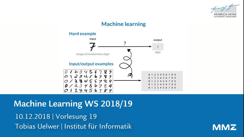 Machine Learning VL19