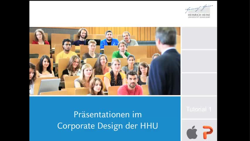 Tutorial 1: Präsentationsvorlagen der HHU (Mac, PowerPoint)