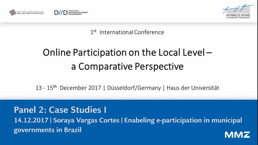 Enabeling e-participation in municipal governments in brazil: