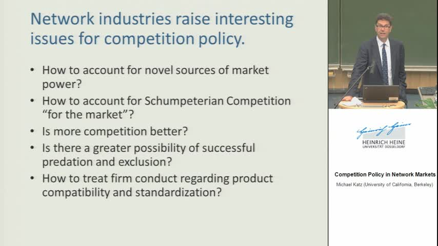 Competition Policy in Network Industries