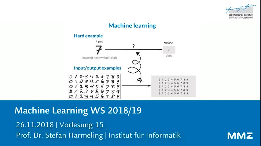 Machine Learning VL 15