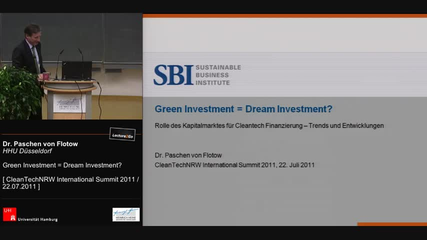 Green Investment = Dream Investment?