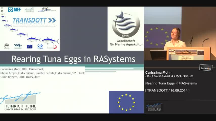 Rearing Tuna Eggs in RASystems