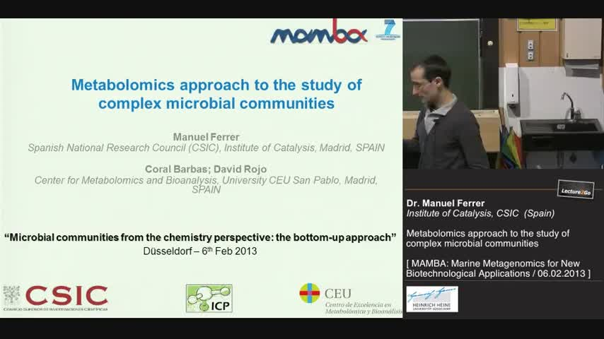 Metabolomics approach to the study of microbial communities