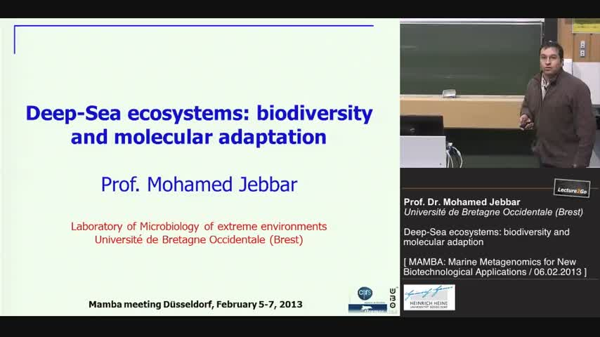 Deep-Sea ecosystems: biodiversity and molecular adaptation to extreme
