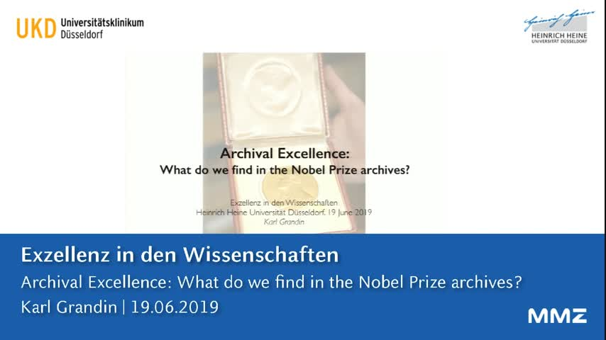 Archival Excellence: What do we find in the Nobel Prize archives?