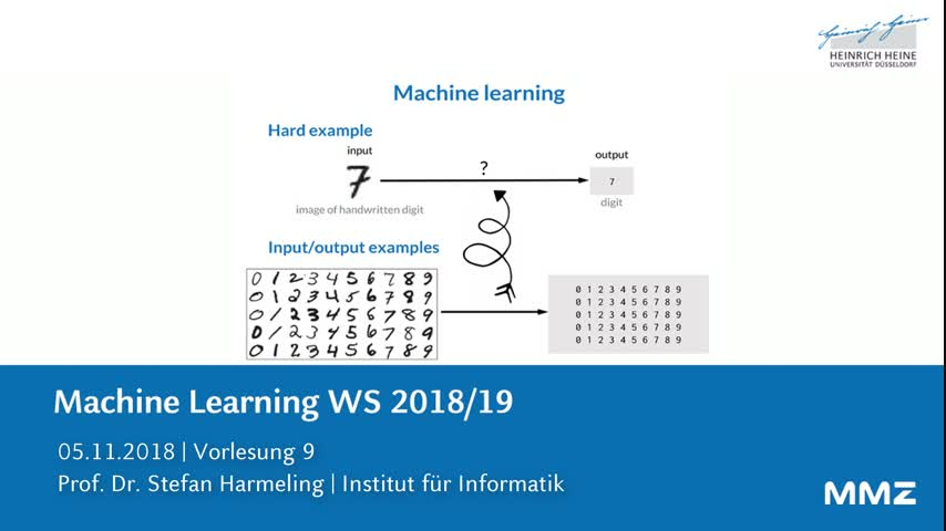 Machine Learning VL 9