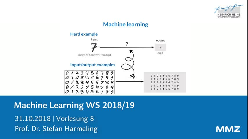 Machine Learning VL 8