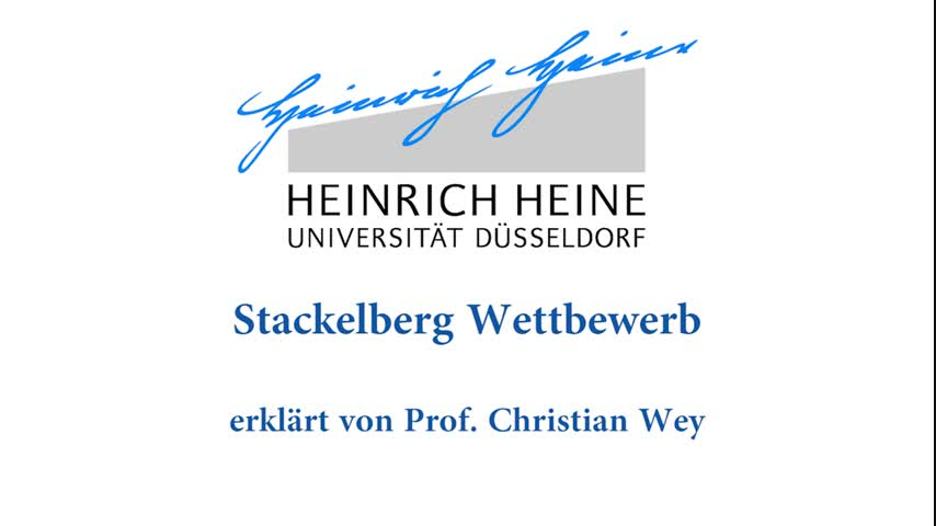 My-Prof@home: Stackelberg