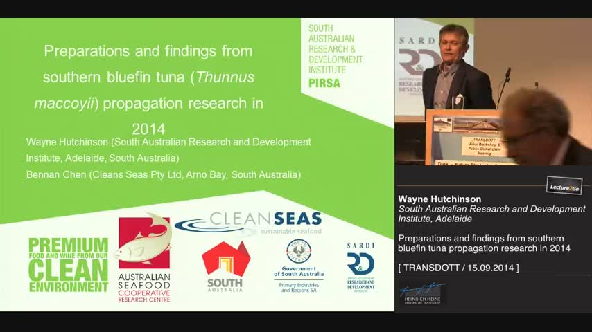 Preparations and findings from southern bluefin tuna propagation research in 2014