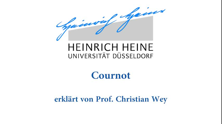 My-Prof@home: Cournot