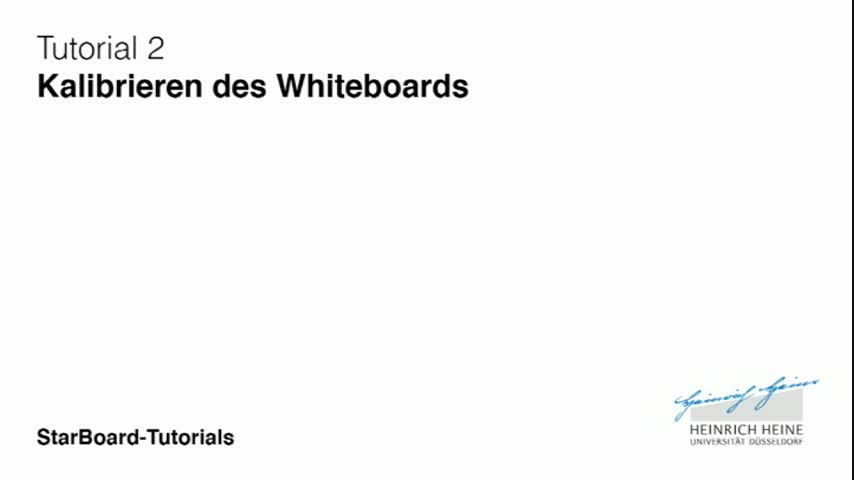 2: Kalibrieren des Whiteboards
