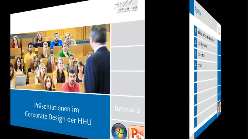 Tutorial 3: Präsentationsvorlagen der HHU (Windows PPT)