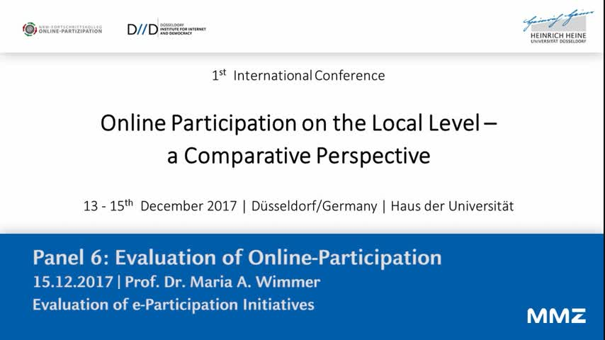 Evaluation of e-Participation Initiatives
