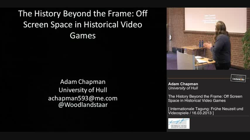 The History Beyond the Frame: Off Screen Space in Historical Video Games