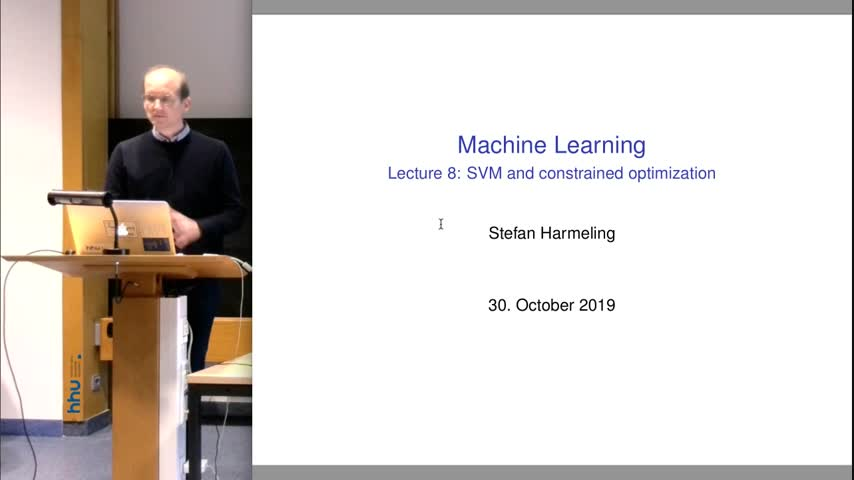 Machine Learning 08 Support Vector Machine 2019/20